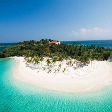 Barcardi Island auf der Halbinsel Samana