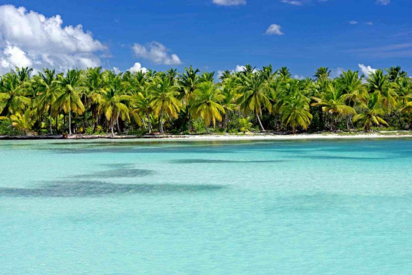 Saona Tropical Beach Dominican Republic Caribbean